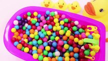 Learn Colors mandm Baby Doll Bath Time Color Song and Colours Slime Surprise Toys