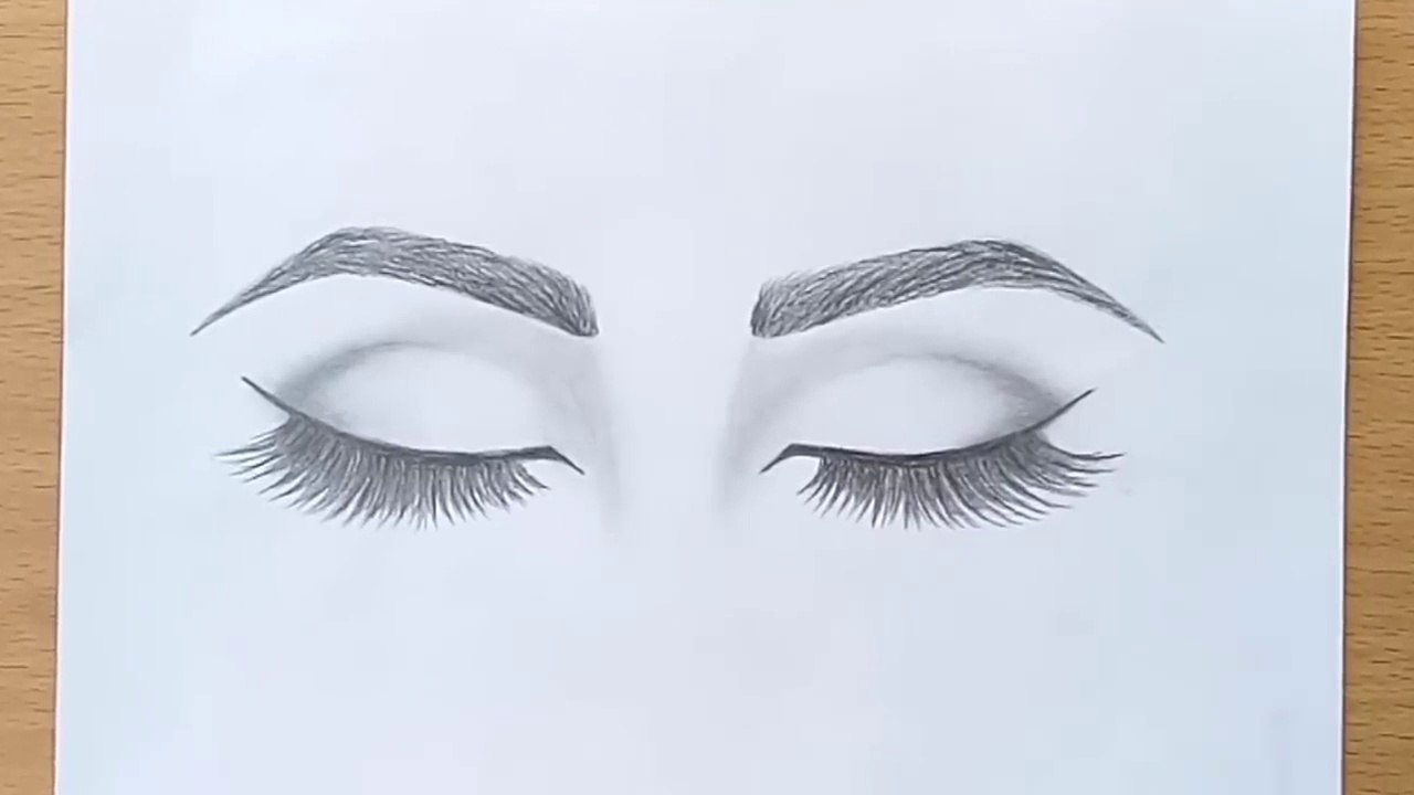 How To Draw Closed Eyes For Beginners Step By Step Video Dailymotion