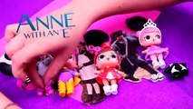 """ANNE with an """"E""""   Anne, Gilbert and Diana into LOL Surprise Dolls -Toy Transformations"""