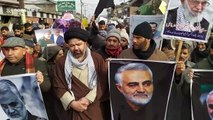 Shia Muslims in Kashmir protest against US killing of Soleimani