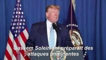 """Iran: Trump dit avoir agi pour """"arrêter"""" une guerre"""