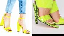 Neon Colour High Heels 2020/Latest Neon green Wedges/ Neon Green High Heels Fashion 2020