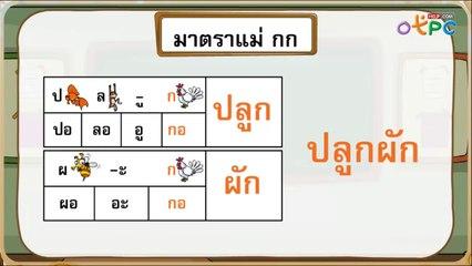 สื่อการเรียนการสอน การสะกดคำมาตราแม่กบ ป.1 ภาษาไทย