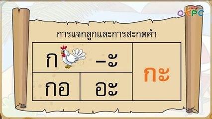 สื่อการเรียนการสอน การอ่านแจกลูก การสะกดคำ สระอะ สระอิ ป.1 ภาษาไทย