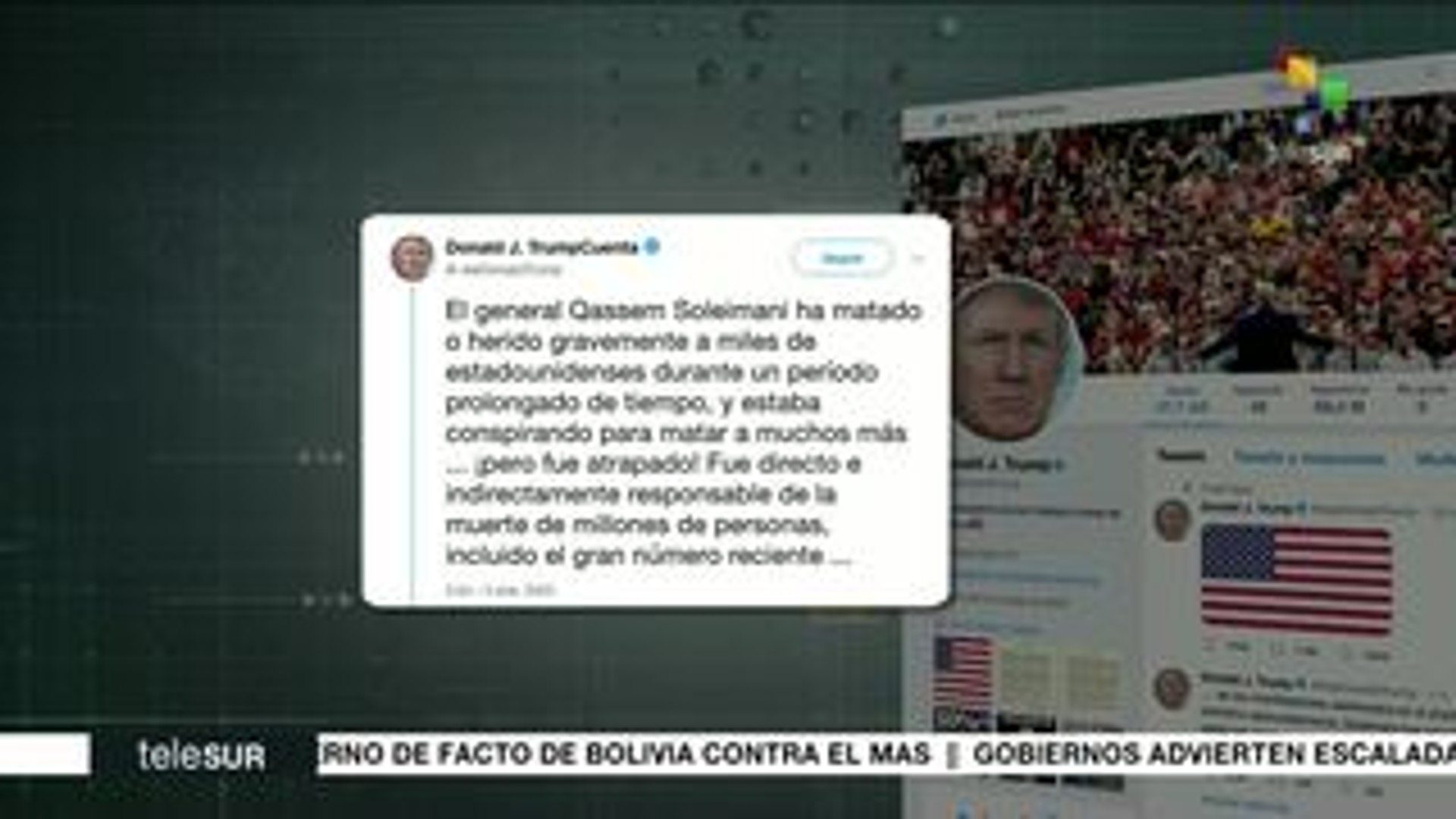 Trump justifica vía Twitter asesinato de general iraní