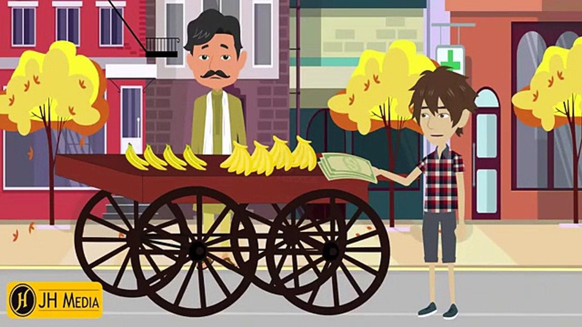 Story of Poor Bagger & Boy - New Urdu Cartoon Stories  - Urdu Story For Kids