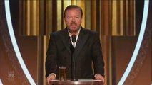 Ricky Gervais dézingue tout le monde du cinéma dans son speech des Golden Globes 2020