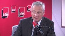 """Bruno Le Maire : """"Si les Américains décident de mettre des sanctions contre la taxation du digital, nous riposterons ; mais j'appelle nos amis américains à revenir à la sagesse"""""""