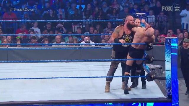 Strowman defeats Cesaro despite help from Sami Zayn & Shinsuke Nakamura - FRIDAY NIGHT SMACKDOWN. HD