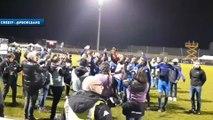 La joie des joueurs de Saint-Pryvé-Saint-Hilaire après la victoire face à Toulouse