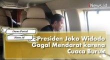 Gagal Mendarat karena Cuaca Buruk, Jokowi dan Doni Monardo Bahas Vetiver di Heli