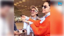 Video: Birthday girl Deepika Padukone cuts cake at airport with Ranveer Singh