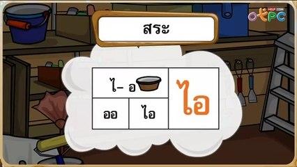 สื่อการเรียนการสอน การอ่านแจกลูกและสะกดคำ สระไอ ไม้มลาย ป.1 ภาษาไทย