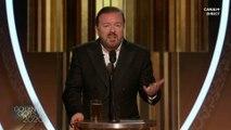 """Ricky Gervais : """"Venez prendre votre petit prix [...] et barrez-vous putain"""" - Golden Globes 2020"""