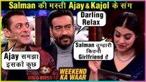 Salman Khan's MASTI TIME With Ajay Devgn And Kajol | Tanhaji | Bigg Boss 13 Weekend Ka Vaar