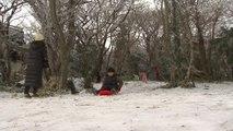 눈 쌓인 한라산, 나들이객에겐 겨울 놀이터 / YTN