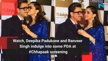 Watch, Deepika Padukone and Ranveer Singh indulge into some PDA at #Chhapaak screening