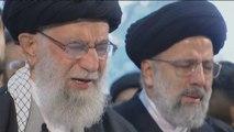 Iran Supreme Leader Khamenei leads prayers at Soleimani funeral