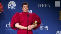 Olivia Colman wins Golden Globe for performance in The Crown