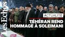 Une foule d'Iranien rend hommage à Soleimani dans les rues de Téhéran