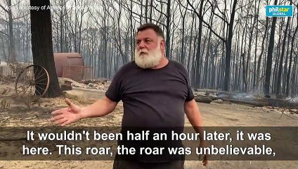 Australia fires: resident describes moments flames approached home