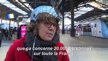 Retraites: 33e jour de grève, foule à la gare Saint-Lazare