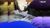 Bursa'da küçük öğrencilerin Olay Gazetesi sevinci