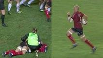 Sergio Parisse retourne jouer après une chute et offre presque un essai au RCT