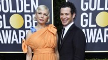 Michelle Williams keeps baby bump under wraps at Golden Globes