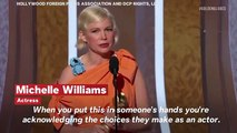 Golden Globes 2020: Michelle Williams Delivers Powerful Speech About Women's Choice
