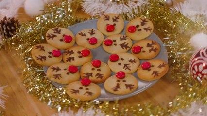 Rudoph-Kekse für Weihnachten