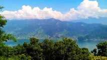 View from Pokhara gumba mind blowing