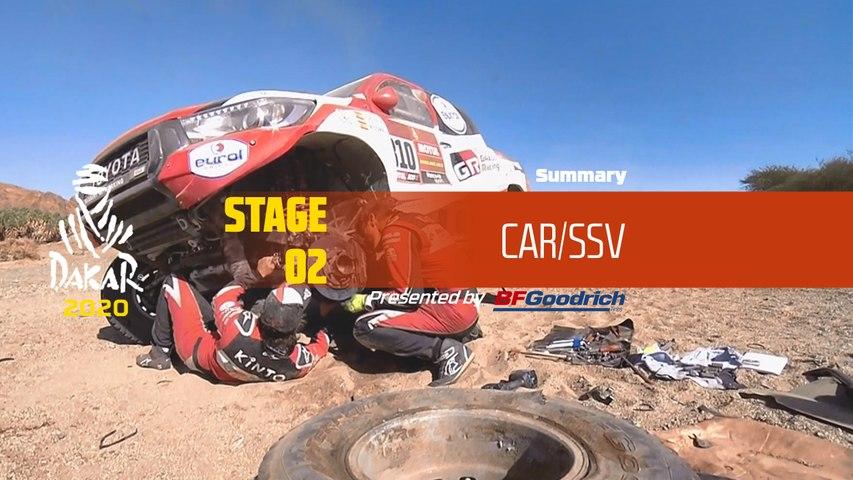 Dakar 2020 - Stage 2 (Al Wajh / Neom) - Car/SSV Summary
