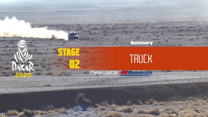 Dakar 2020 - Stage 2 (Al Wajh / Neom) - Truck Summary