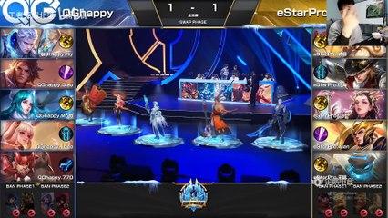 北笙解说版本:冬季冠军杯总决赛,eStarPro对战QGhappy第三局