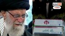 Pemimpin Tertinggi Iran menangis ketika solat jenazah komander Soleimani