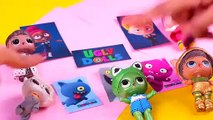 UgLYDoLLs  Moxy, Babo, Mandy, Louis and Ugly Dog with LOL PETS- Toy Transformations