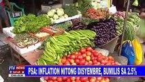 PSA: Inflation nitong Disyembre, bumilis sa 2.5%