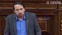 """Intervención de Iglesias: """"Le pido que tenga firmeza democrática"""""""