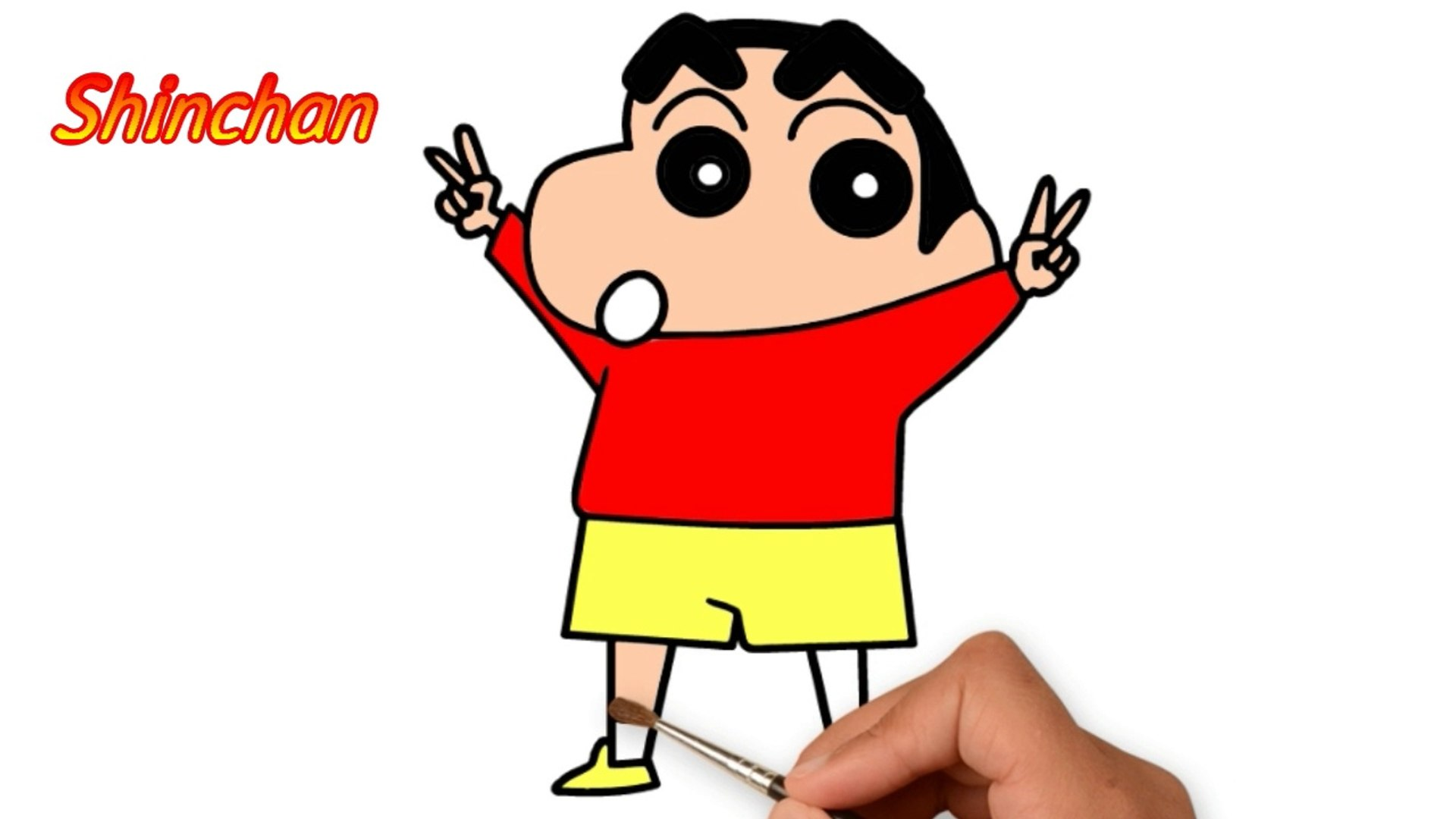 Learn Easy Way To Draw Shinchan Coloring Pages For Kids Step By Step Method Drawing For Kids Drawing And Coloring Tutorial Video Dailymotion
