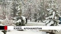La capitale afghane recouverte d'un manteau blanc