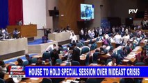 NEWS: House to hold special session over MidEast crisis