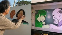 Taiwan artists draw 2020 presidential candidates in contrasting mediums