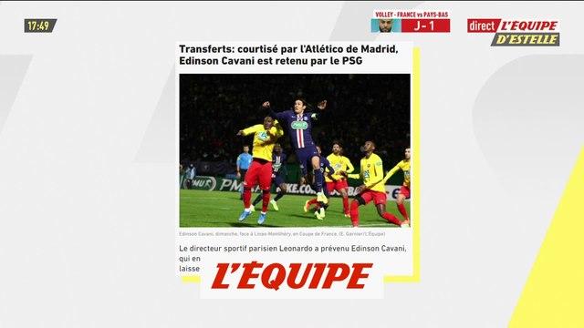 Courtisé par l'Atlético, Cavani est retenu par le PSG - Foot - L1 - PSG
