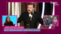 Ricky Gervais Skewers Leonardo DiCaprio, Felicity Huffman & More in Golden Globes Opening Monologue
