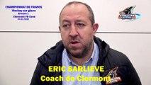 Hockey sur glace Interview d'Eric Sarliève, Coach des Sangliers Arvernes de Clermont-Ferrand, le 04/01/2020 (Clermont-Ferrand VS Caen)