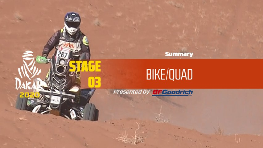Dakar 2020 - Stage 3 (Neom / Neom) - Bike/Quad Summary
