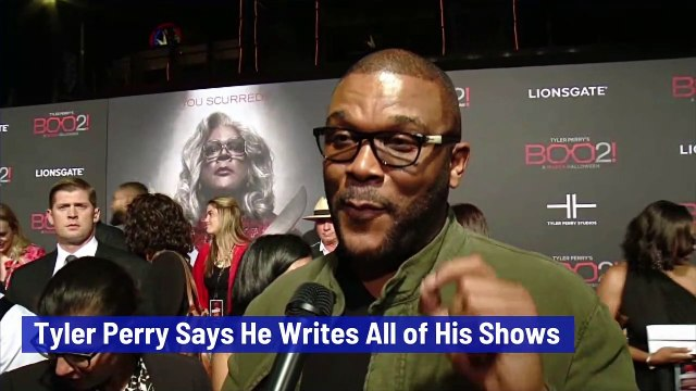 Tyler Perry Says He Writes All of His Shows