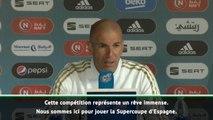 """Supercoupe - Zidane : """"Pas en Arabie Saoudite pour se promener"""""""