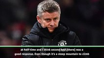 First half against City was United's worst this season - Solskjaer